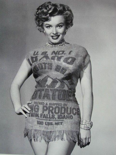 Marilyn Monroe Potato Sack  Marilyn Monroe biography net worth quotes wiki