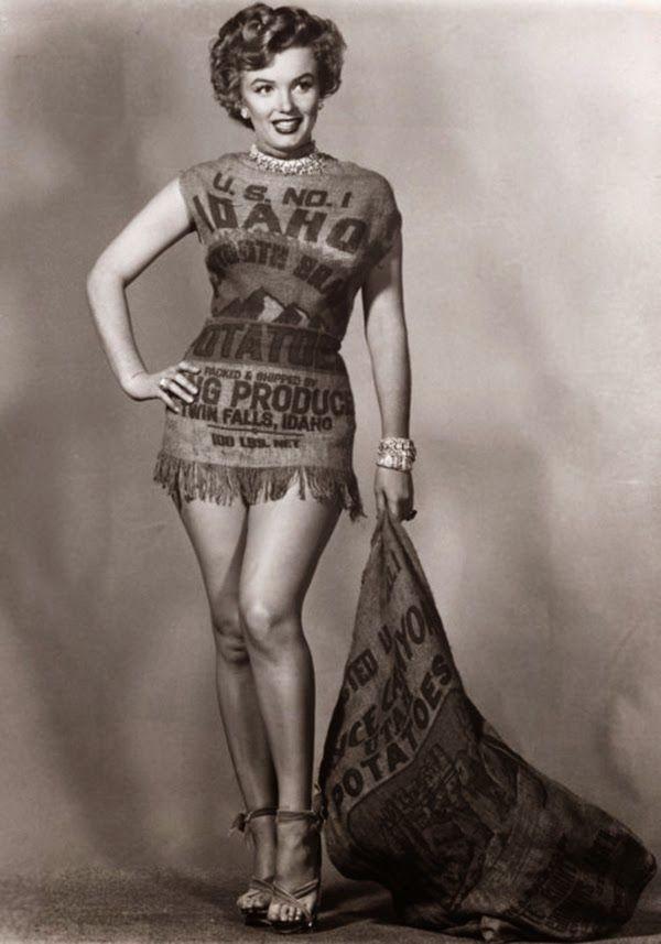 Marilyn Monroe Potato Sack  445 best Marilyn Monroe images on Pinterest