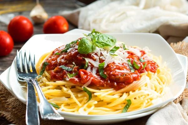 Marinara Sauce Vs Spaghetti Sauce  Spaghetti with Homemade Pomodoro Sauce