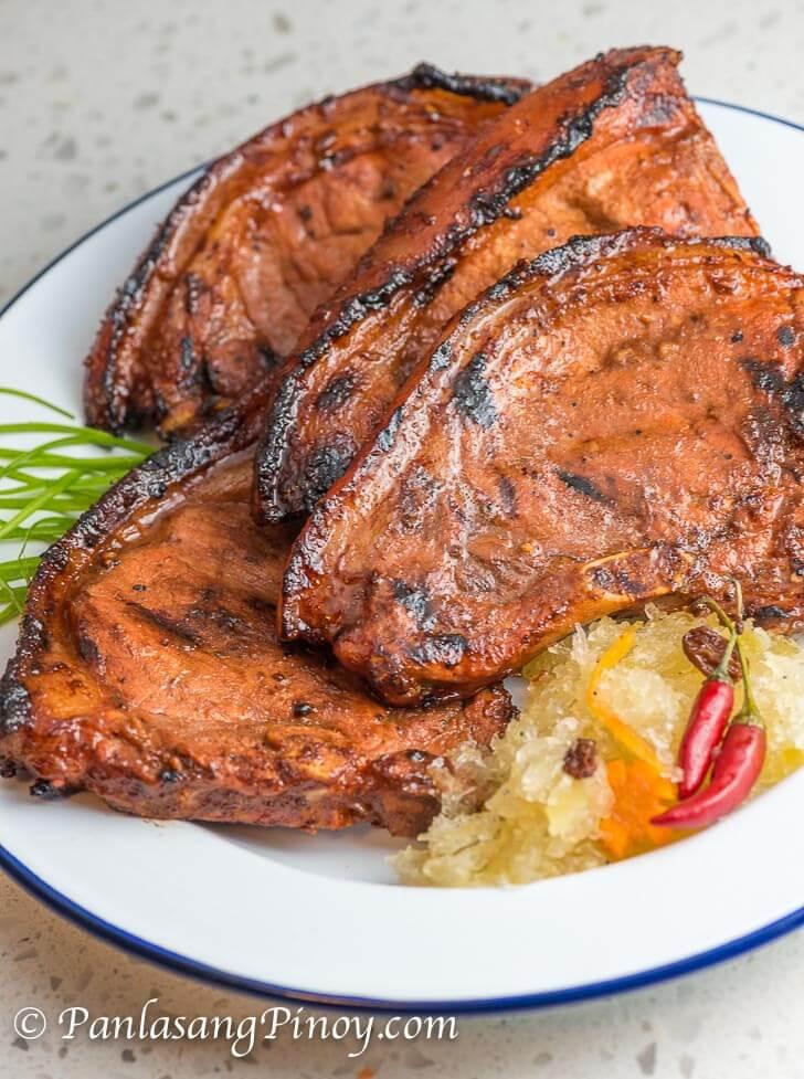 Marinate Pork Chops  Marinated Grilled Pork Chop Panlasang Pinoy
