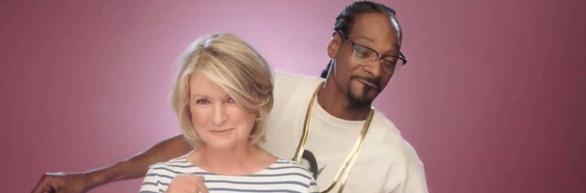 Martha & Snoop'S Potluck Dinner Party  Snoop Dogg and Martha Stewart Do an Interpretive Brownie