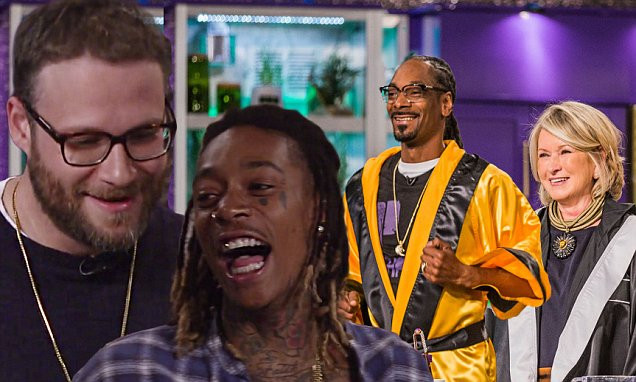 Martha & Snoop'S Potluck Dinner Party  Martha Stewart and Snoop Dogg cook with Wiz Khalifa and