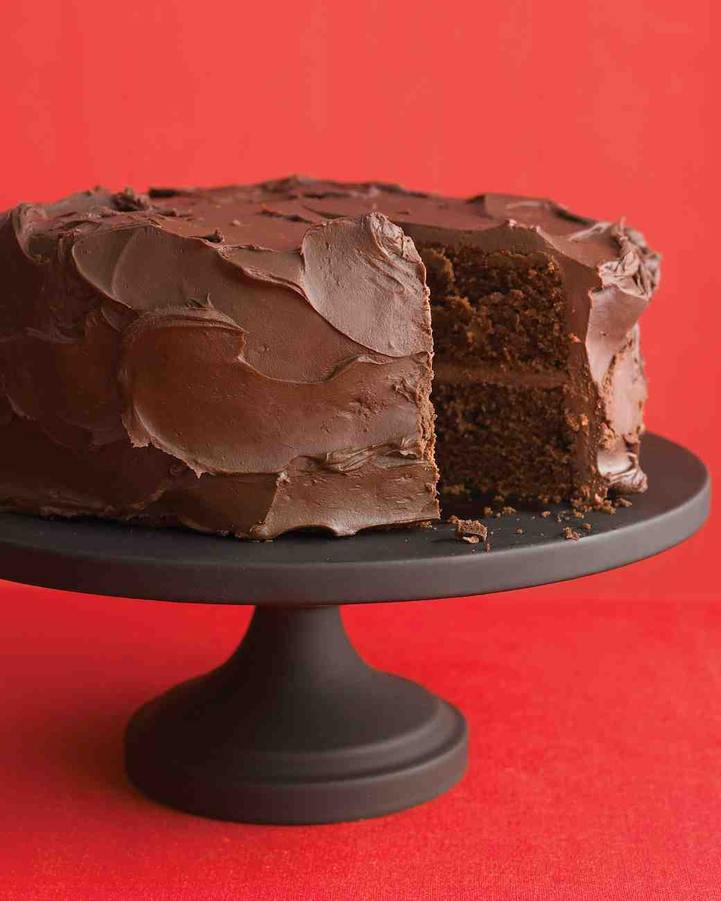 Martha Stewart Chocolate Cake  Dark Chocolate Cake with Ganache Frosting Recipe