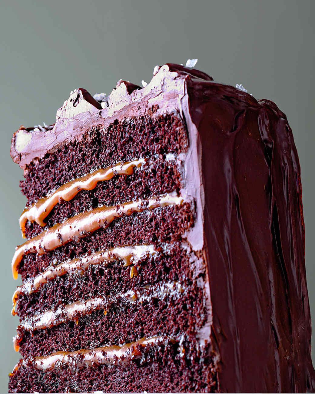 Martha Stewart Chocolate Cake  Salted Caramel Six Layer Chocolate Cake Recipe