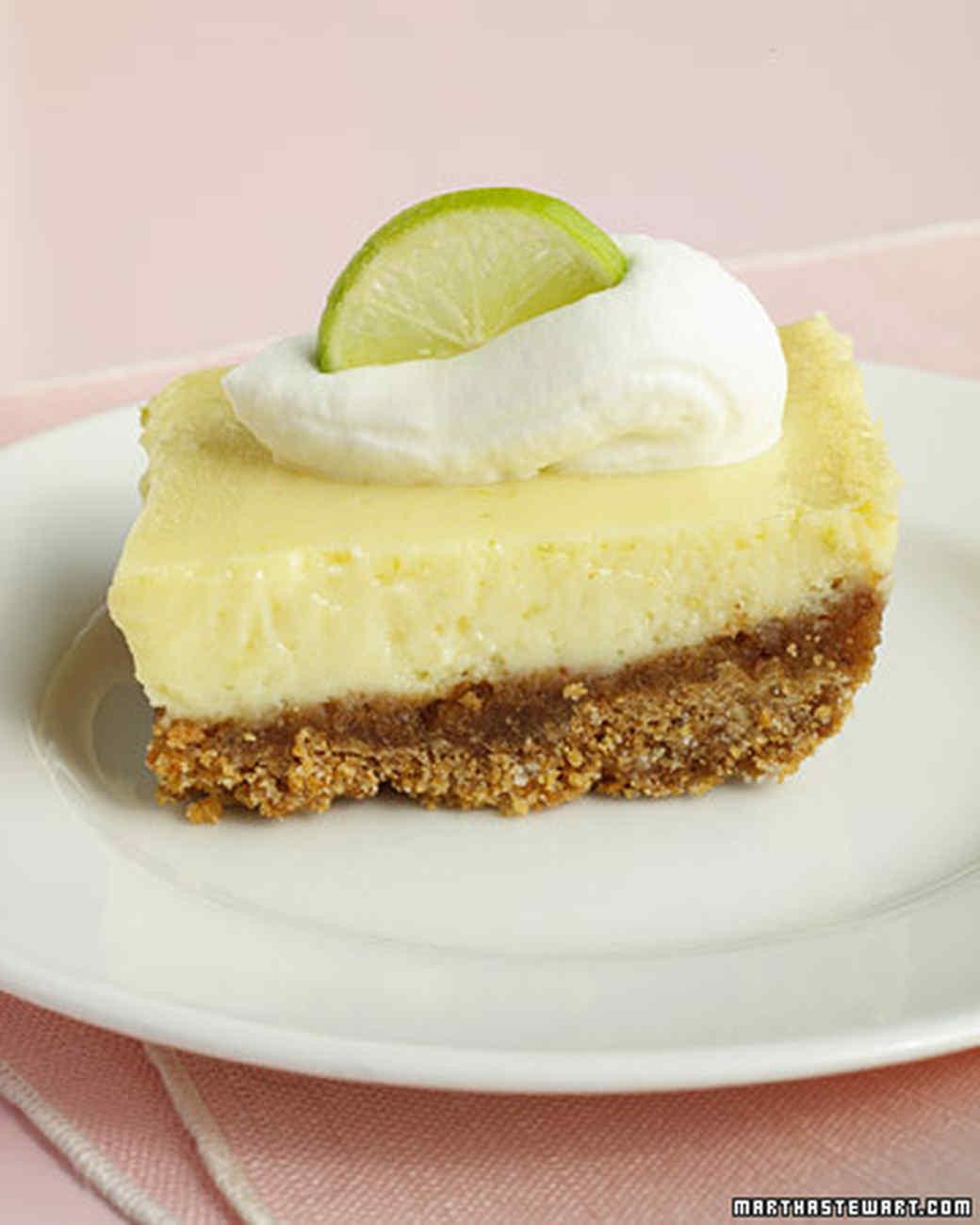 Martha Stewart Key Lime Pie  Key Lime Bars Recipe