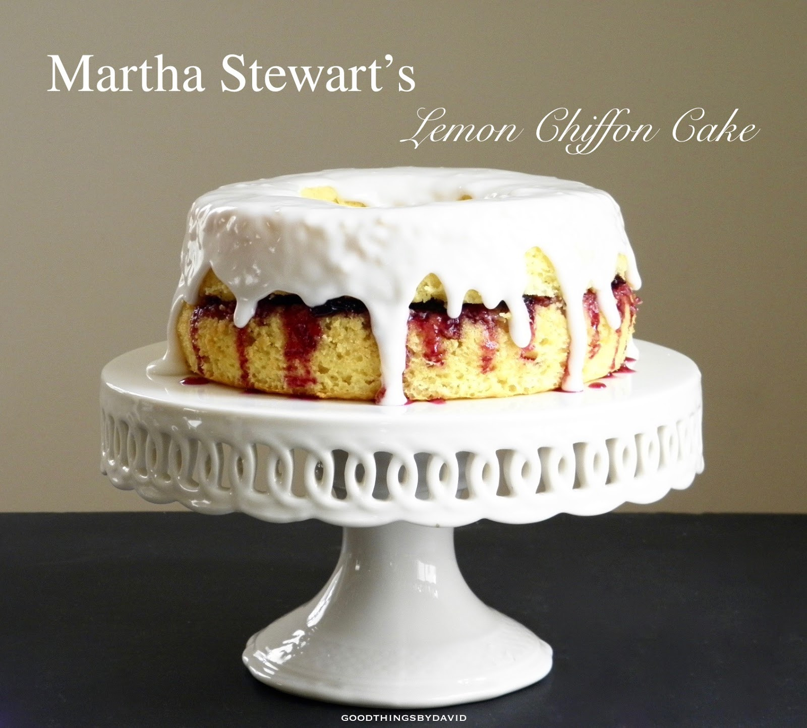 Martha Stewart Lemon Cake  Good Things by David Martha Stewart s Lemon Chiffon Cake