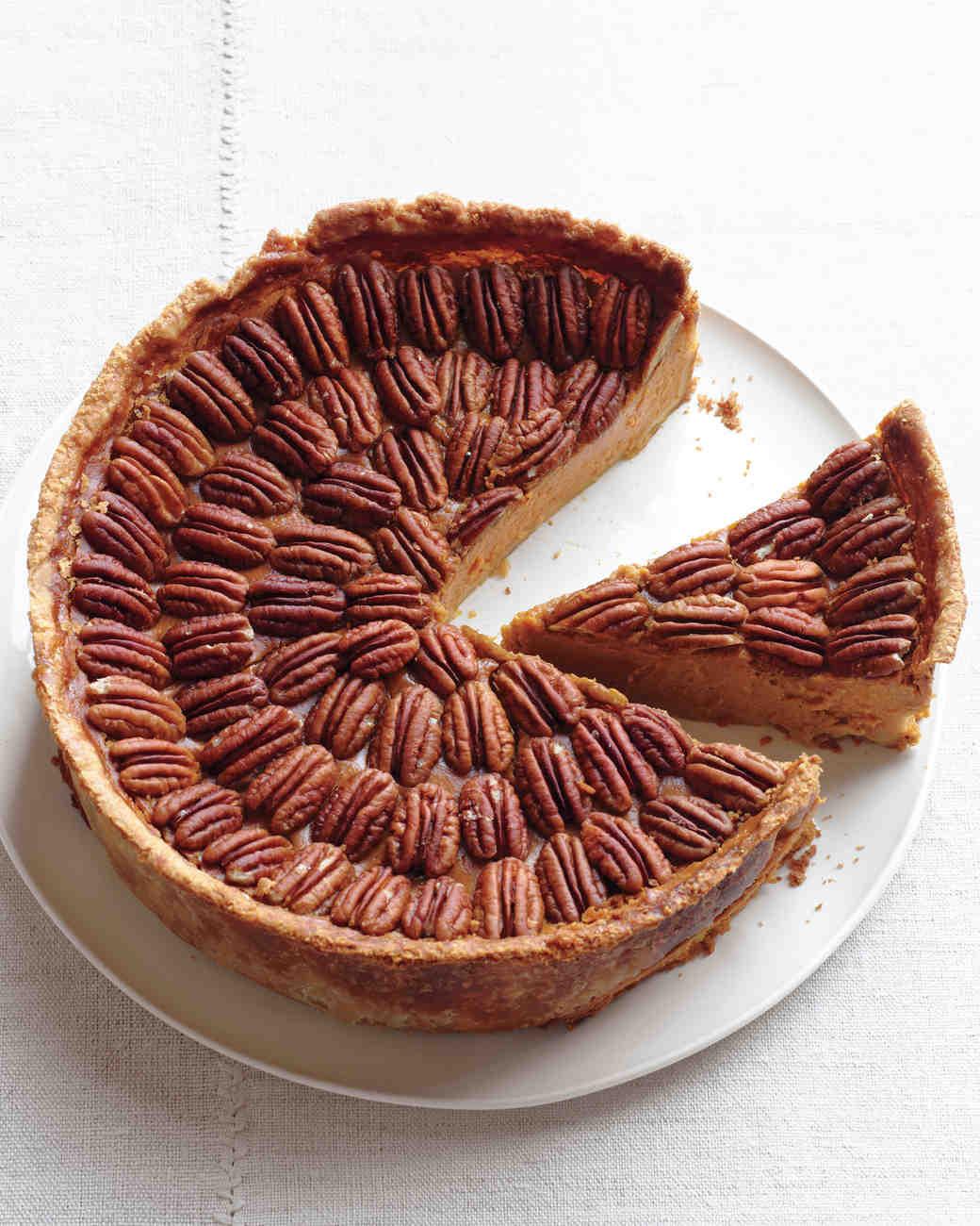 Martha Stewart Pecan Pie  Mile High Pumpkin Pecan Pie Recipe