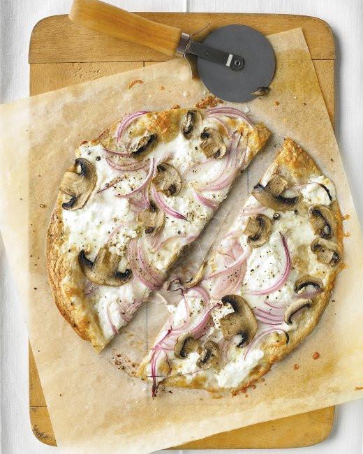 Martha Stewart Pizza Dough  Thinnest Crust Pizza with Ricotta and Mushrooms Recipe