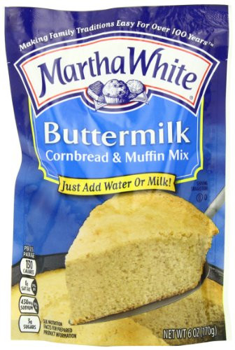 Martha White Cornbread Mix  Martha White Buttermilk Cornbread Mix 6 Ounce Pack of 12