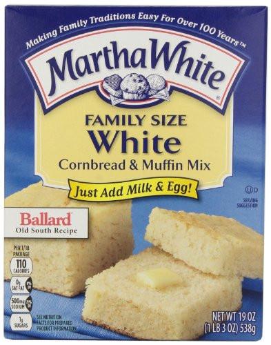 Martha White Cornbread Mix  Martha White Family Size White Cornbread and Muffin Mix