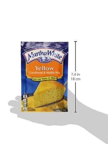 Martha White Cornbread Recipe  Martha White Yellow Cornbread and Muffin Mix 6 5 Ounce