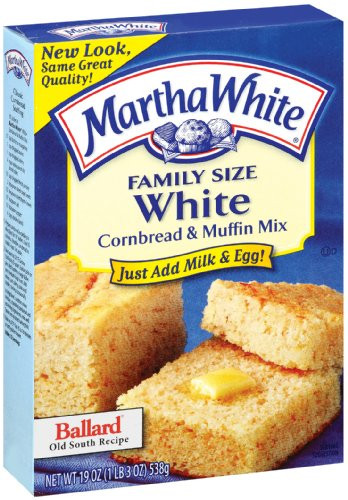 Martha White Cornbread Recipe  Martha White Family Size White Cornbread and Muffin Mix