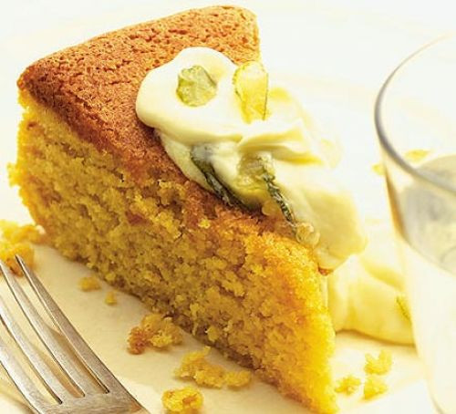 Mascarpone Cheese Dessert Recipe  Orange & almond cake with citrus mascarpone recipe