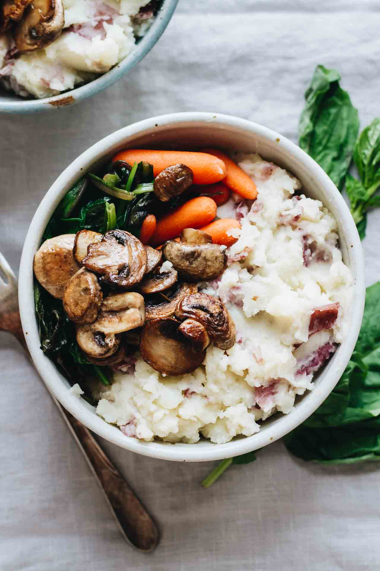 Mashed Potato Bowl  Vegan Loaded Mashed Potato Bowls Jar Lemons