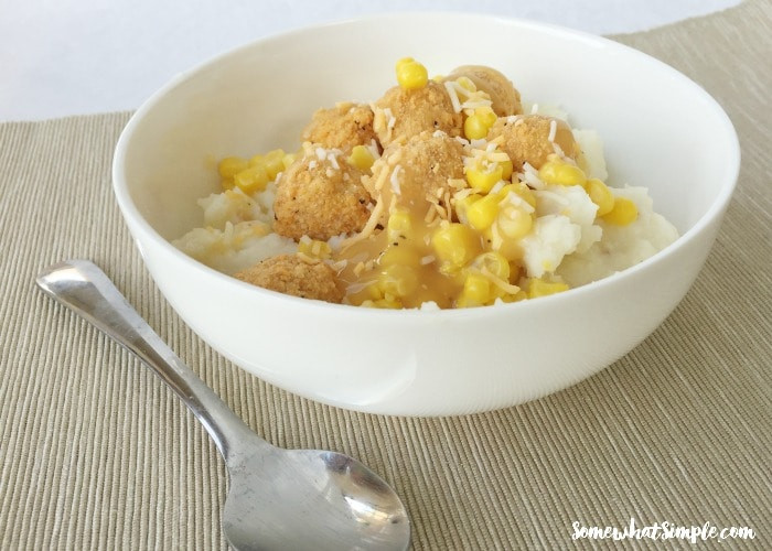 Mashed Potato Bowl  Chicken and Mashed Potato Bowls Recipe Somewhat Simple
