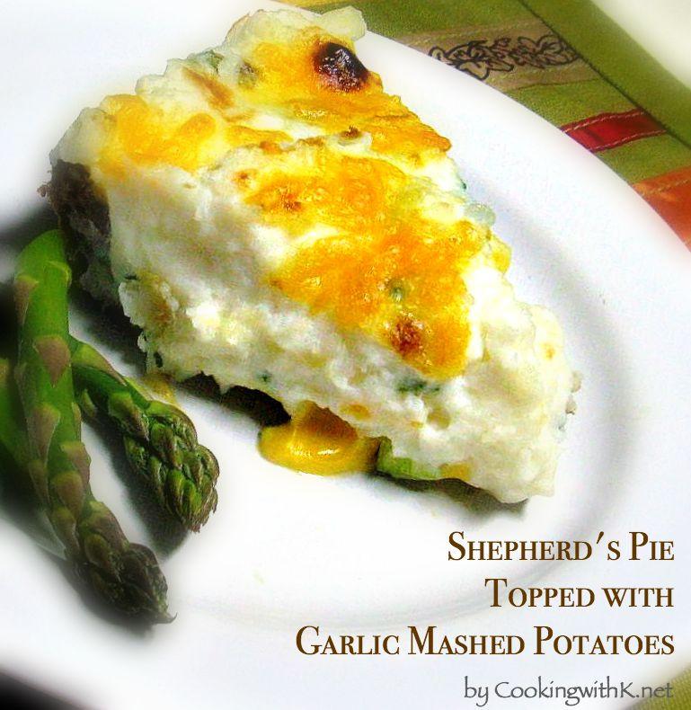 Mashed Potato Pies  Cooking with K Shepherd s Pie with Garlic Mash Potatoes
