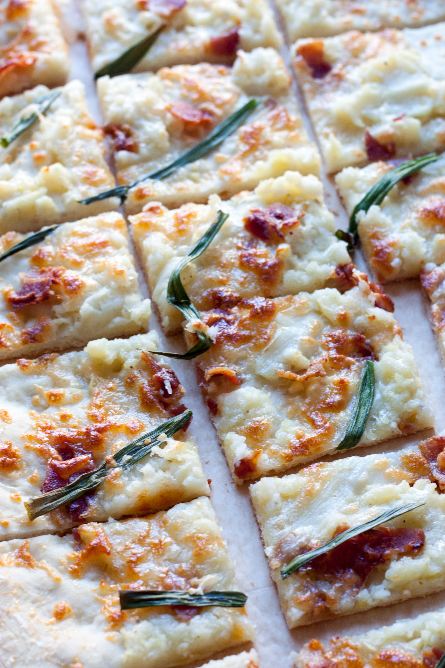 Mashed Potato Pizza  Mashed Potato Bacon and Scallion Pizza