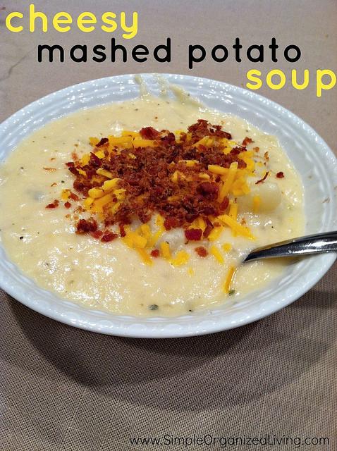 Mashed Potato Soup  Cheesy Mashed Potato Soup Andrea Dekker
