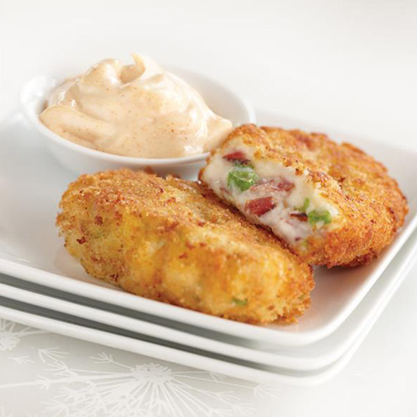 Mashed Potatoes In Spanish  Spanish Style Potato Croquettes with Smoked Paprika Aioli