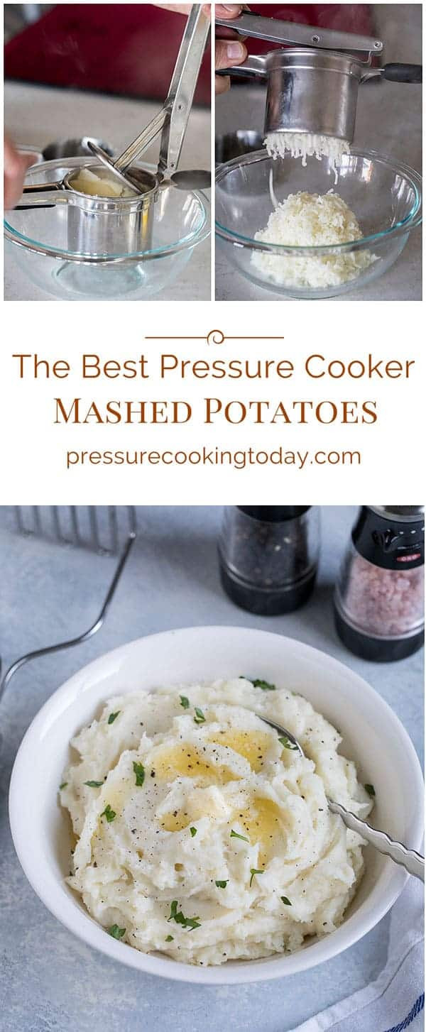 Mashed Potatoes Pressure Cooker  Creamy Pressure Cooker Instant Pot Mashed Potatoes