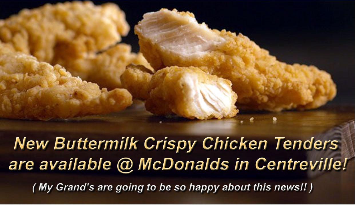 Mcdonalds Chicken Tenders Nutrition  McDonald's Tests New Item Centreville Restaurant