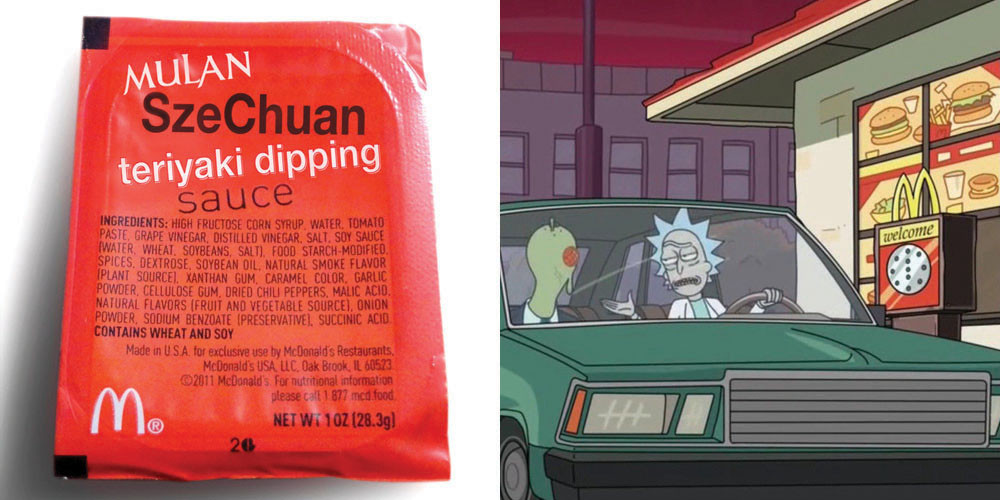 Mcdonalds Dipping Sauces  What People Do for e Packet of the 'Rick and Morty