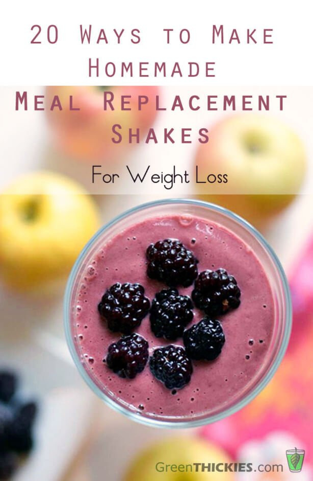 Meal Replacement Smoothies  20 Ways to Make Homemade Meal Replacement Shakes for