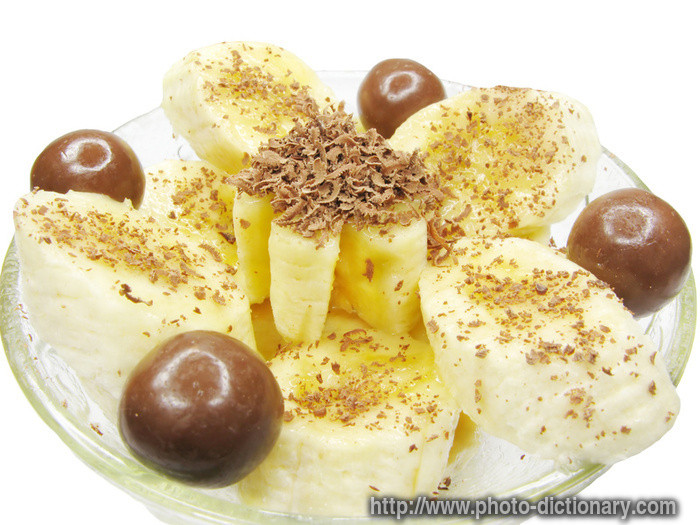 Meaning Of Dessert  banana dessert photo picture definition at