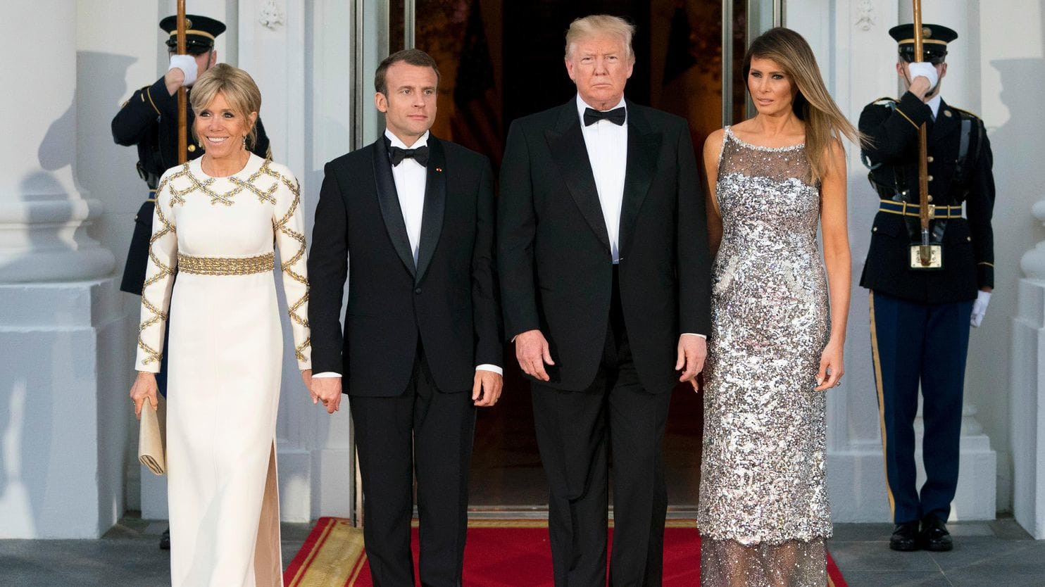 Melania Trump State Dinner  As state dinner hostess Melania Trump finally seems at
