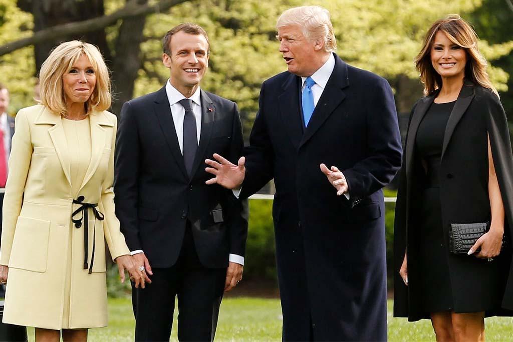 Melania Trump State Dinner  Melania Trump & Brigitte Macron Wear Dramatic Heels Ahead