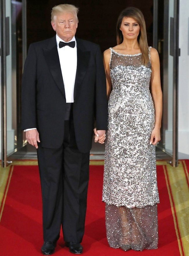 Melania Trump State Dinner  Melania Trump dazzles in Chanel See the perfect details