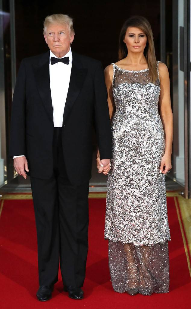 Melania Trump State Dinner  Melania and Ivanka Trump Bring the Glamour With Dramatic
