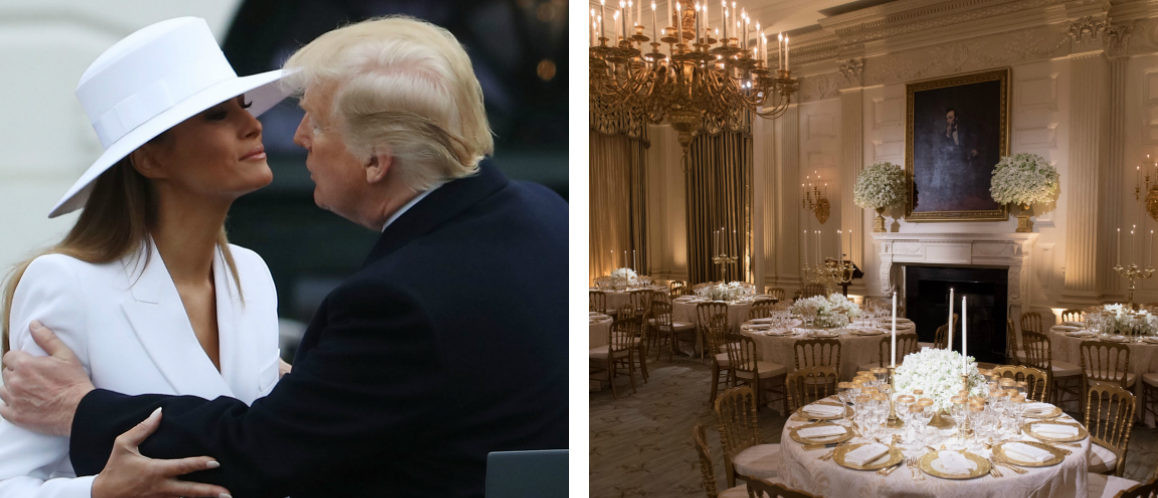 Melania Trump State Dinner  Melania Trump Plans Gorgeous First State Dinner