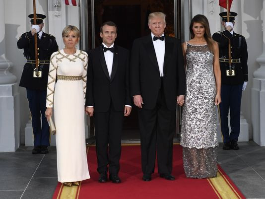 Melania Trump State Dinner  Melania Trump s fun but can't go outside France s