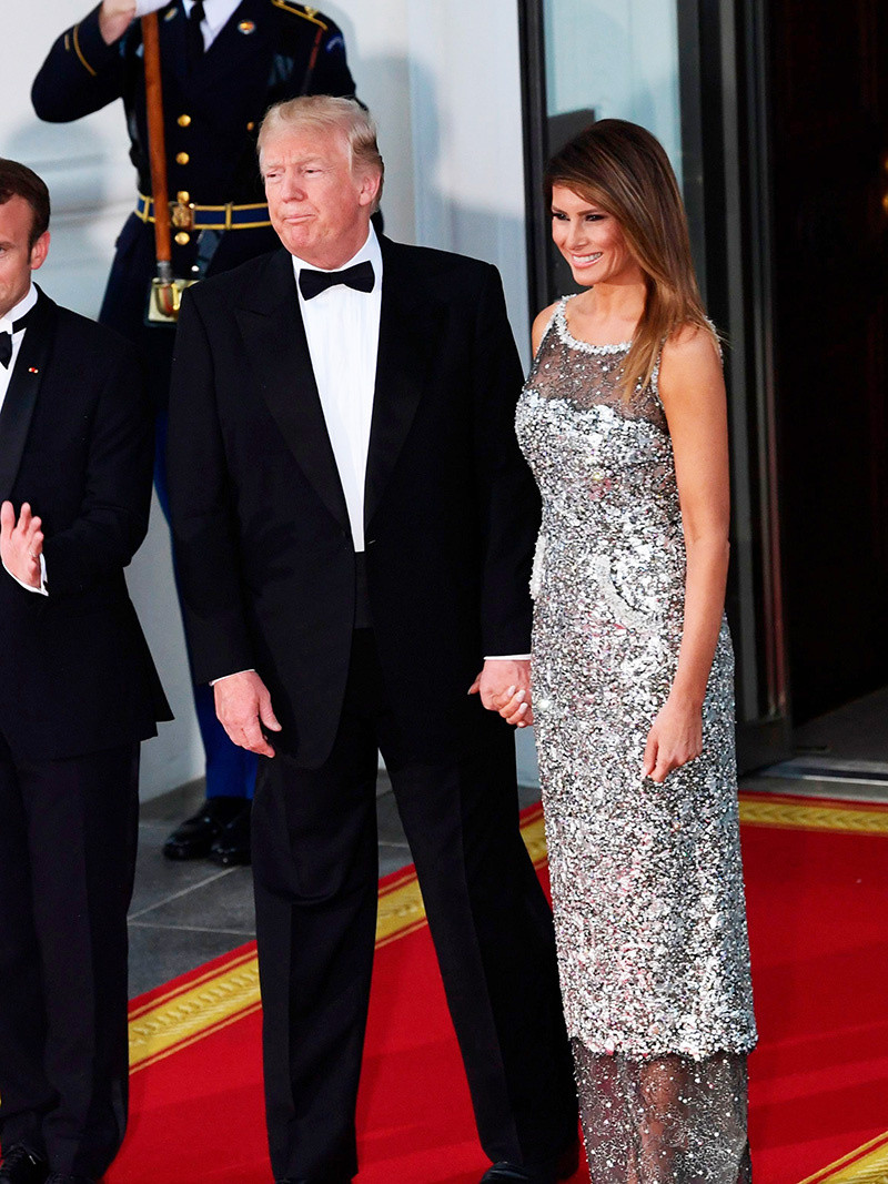 Melania Trump State Dinner  Brigitte Macron & Melania Trump's Hottest Looks — First