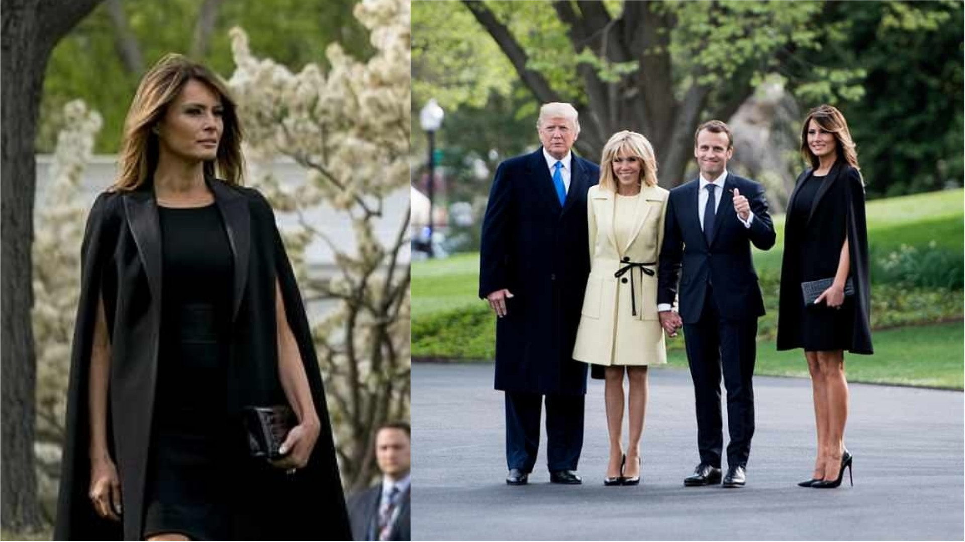 Melania Trump State Dinner  President Trump and Melania Host France s President and