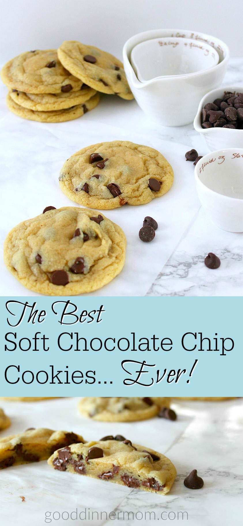 Melted Butter Chocolate Chip Cookies  Best Soft Chocolate Chip Cookies ever  Good Dinner Mom