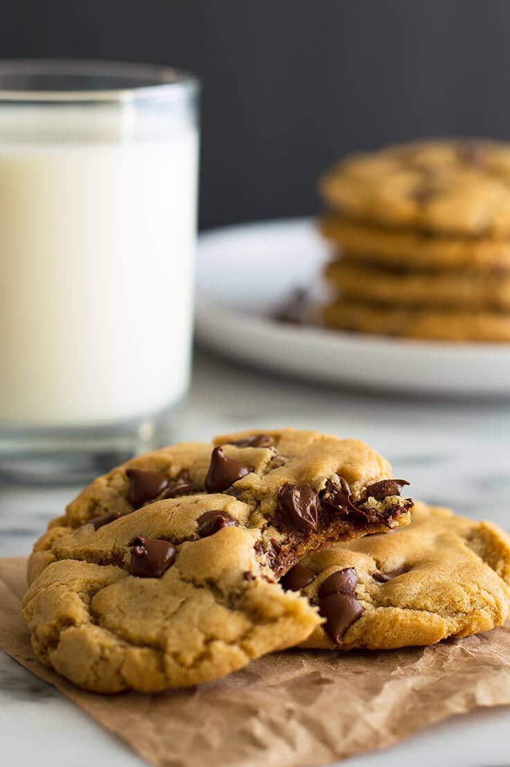 Melted Butter Chocolate Chip Cookies  Easy small batch chocolate chip cookies that use melted