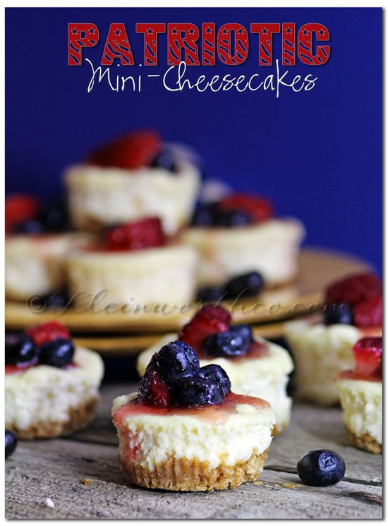 Memorial Day Desserts Recipes  Gourmet Tastes Patriotic Mini Cheesecakes dessert