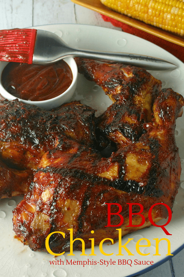 Memphis Style Bbq Sauce  BBQ Chicken with Memphis Style BBQ Sauce Life Love and