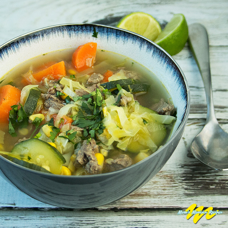Mexican Beef Soup  Cocido Recipe Mexican Beef Soup Mom s Mexican Recipes
