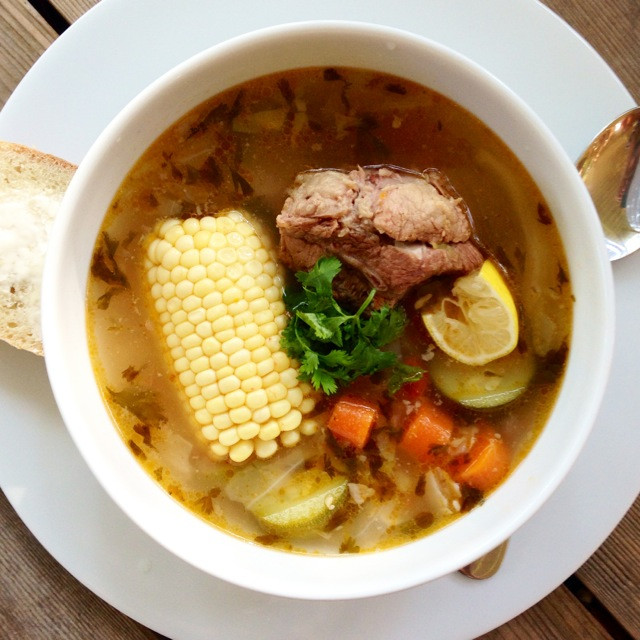 Mexican Beef Soup  Caldo de Res Authentic Mexican Beef and Ve able Soup