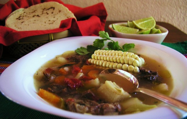 Mexican Beef Soup  Caldo de res — Mexican beef soup – Cooking in Mexico