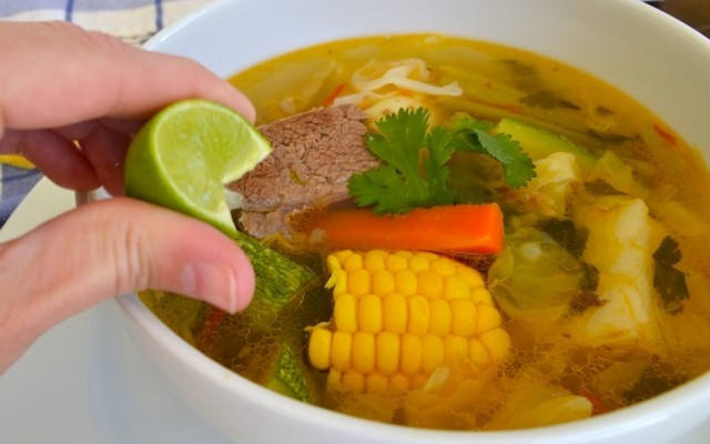Mexican Beef Soup  Caldo de Res Mexican Beef and Ve able Soup