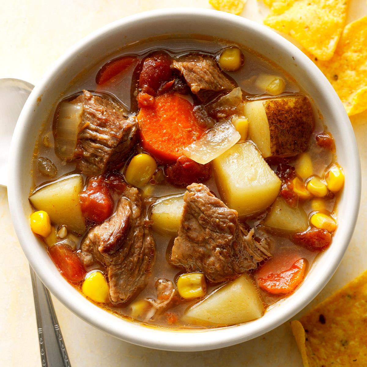 Mexican Beef Soup  Slow Cooked Mexican Beef Soup Recipe