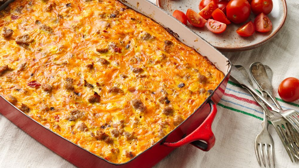 Mexican Breakfast Casserole Recipes  Mexican Breakfast Casserole recipe from Pillsbury