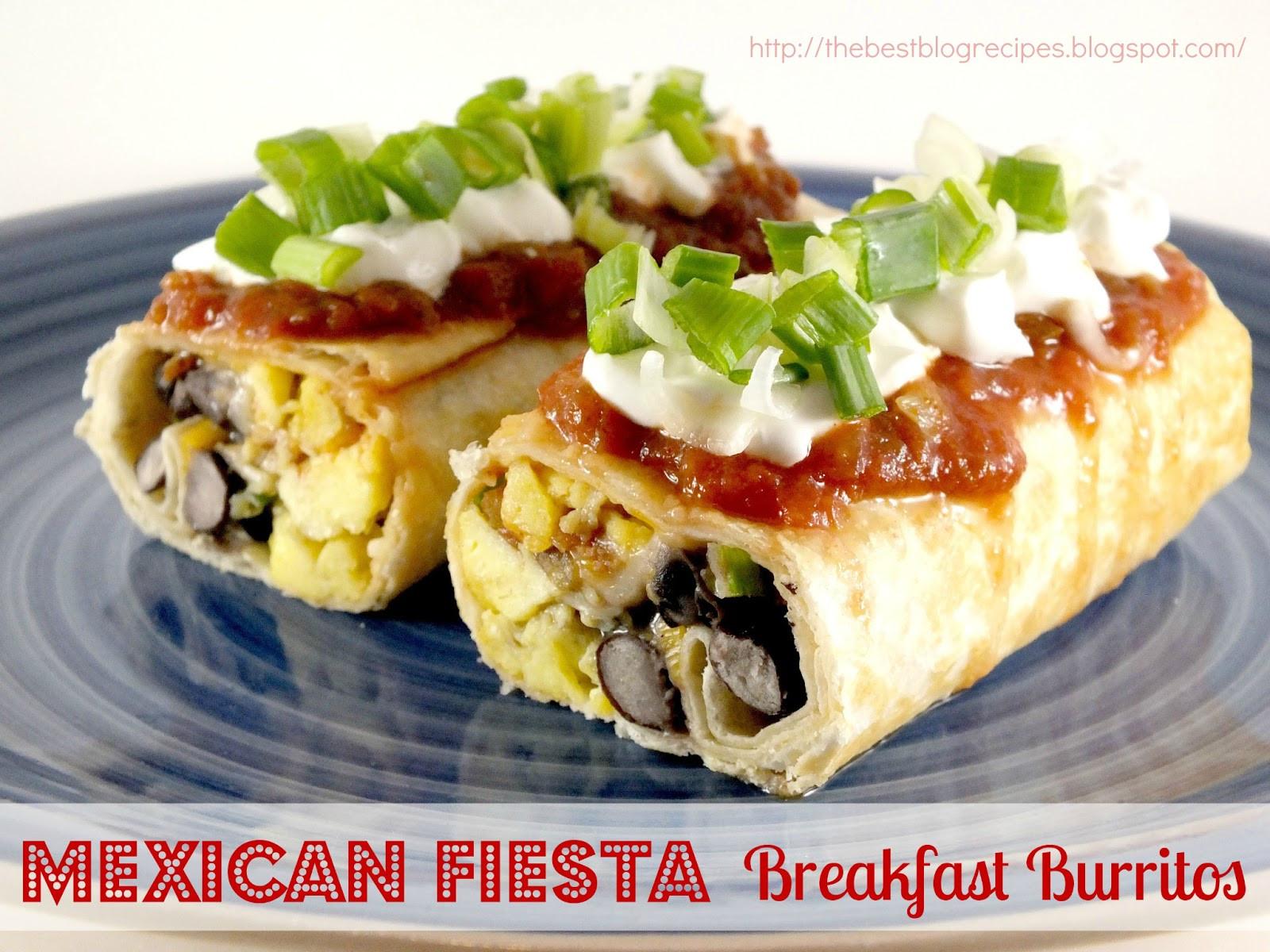 Mexican Breakfast Recipes  Mexican Fiesta Breakfast Burritos The Best Blog Recipes