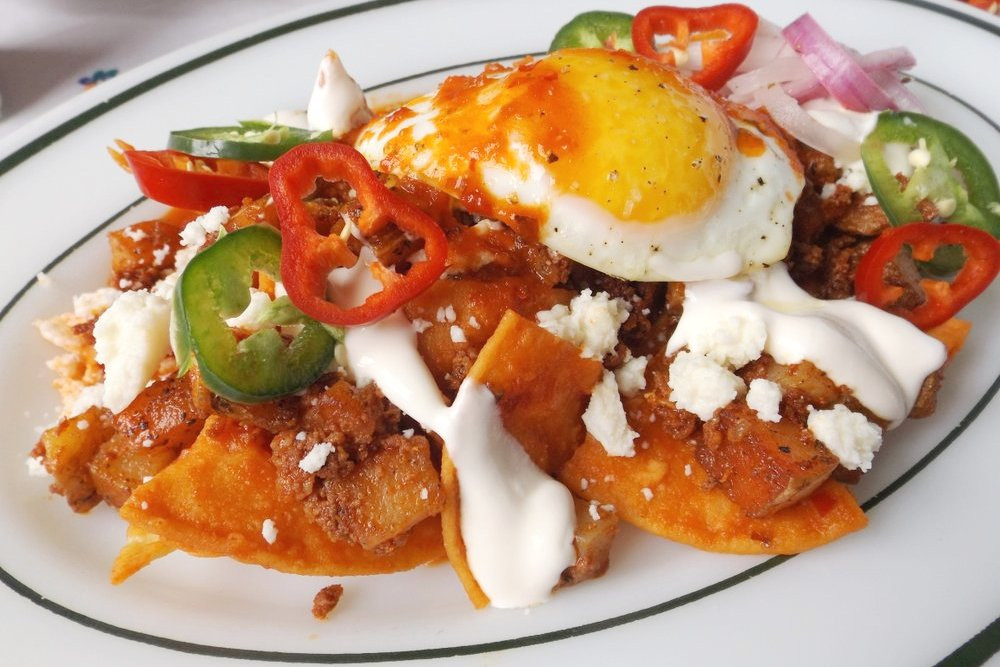 Mexican Breakfast Recipes  Mexican Breakfast Chilaquiles Recipe with Eggs and Chorizo
