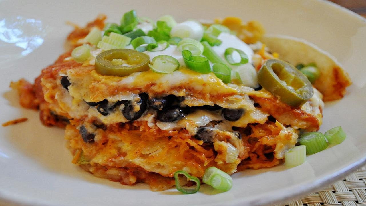 Mexican Casserole With Corn Tortillas  Mexican Lasagna or Corn Tortilla Casserole Ve arian