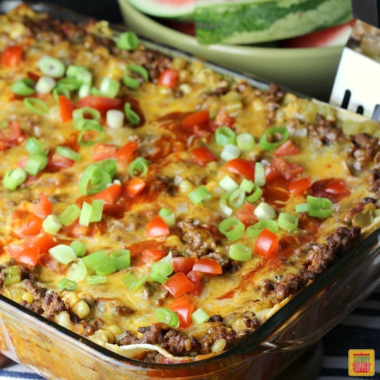 Mexican Casserole With Corn Tortillas  Mexican Lasagna with Corn Tortillas SundaySupper Sunday